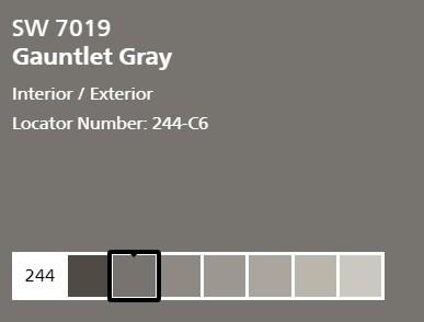 Sherwin Williams Gauntlet Gray