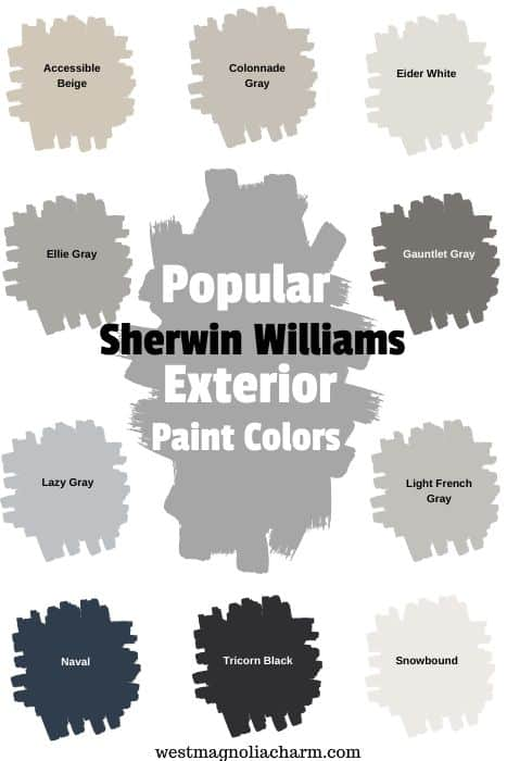 Popular Exterior Sherwin Williams Paint Colors