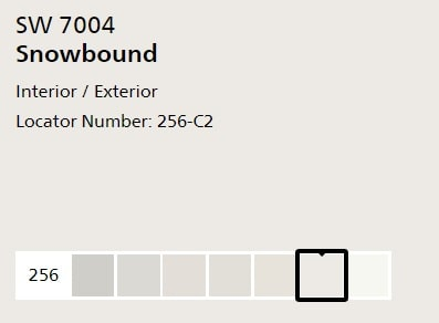 Sherwin Williams Snowbound
