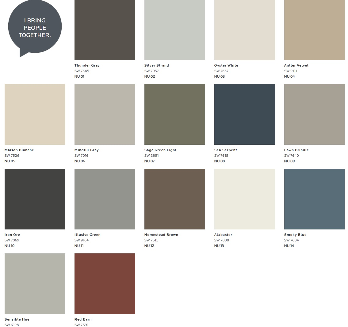 mindful gray color palette