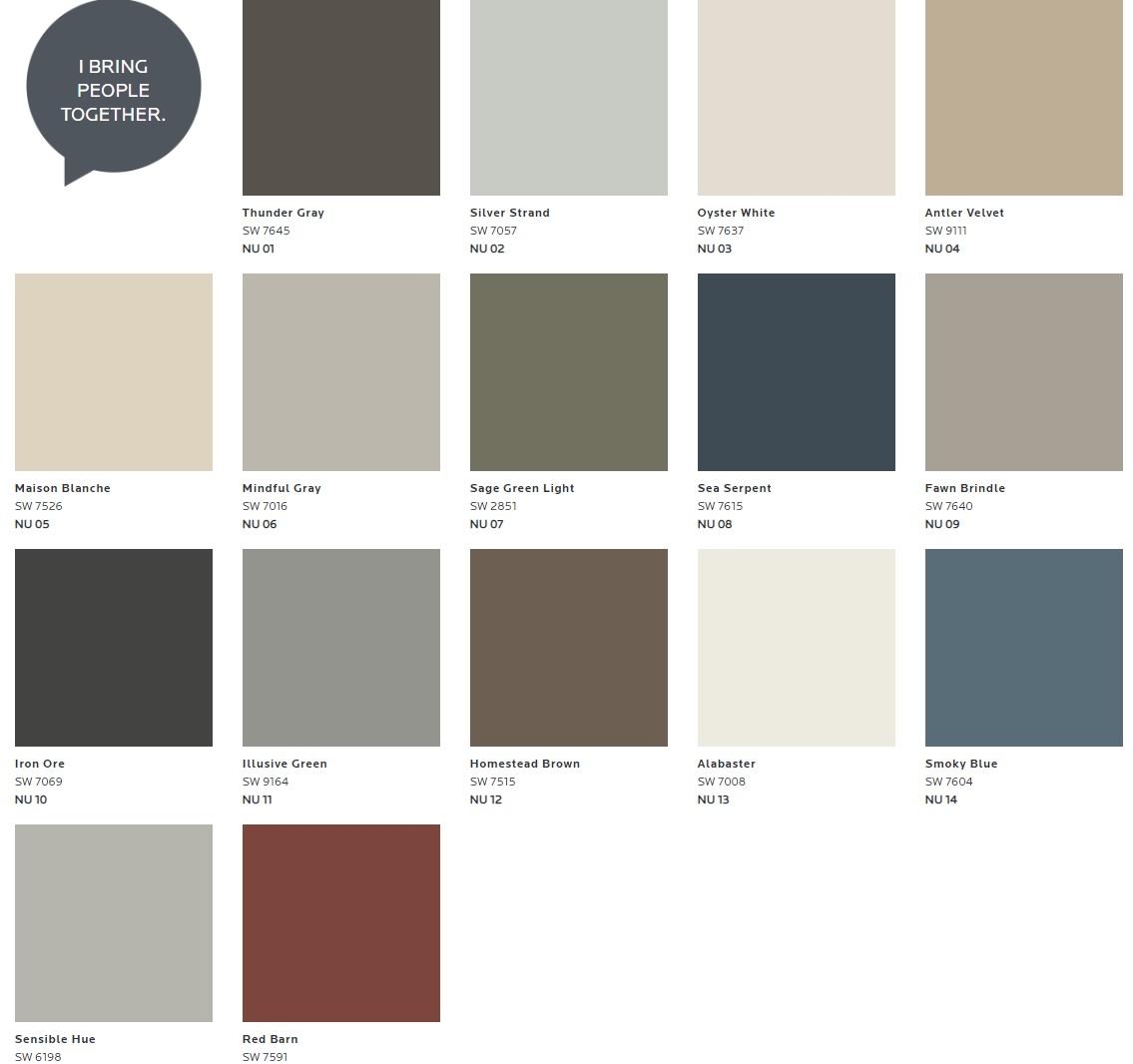 mindful gray color palette
