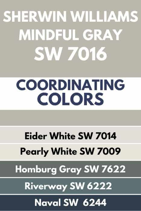 SW Mindful Gray coordinating colors