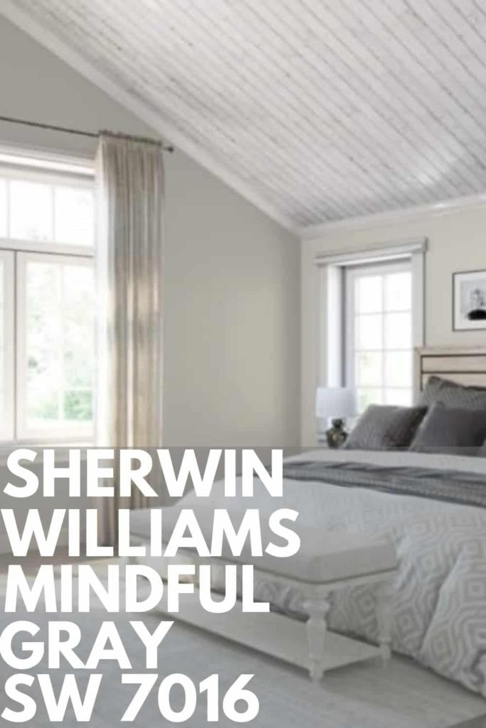 Mindful Gray Paint In Living Room: Sherwin Williams Mindful Gray SW 7016