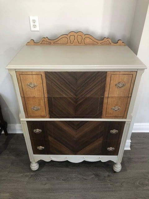 dresser painted with Mindful Gray