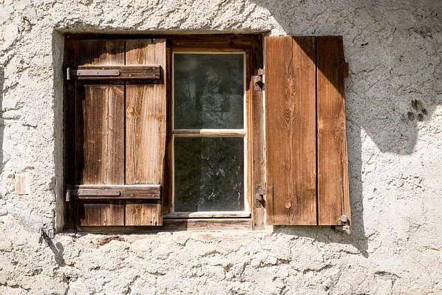 old wooden shutters