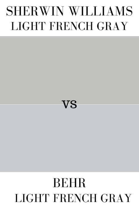 Behr Light French Gray vs SW Light French Gray