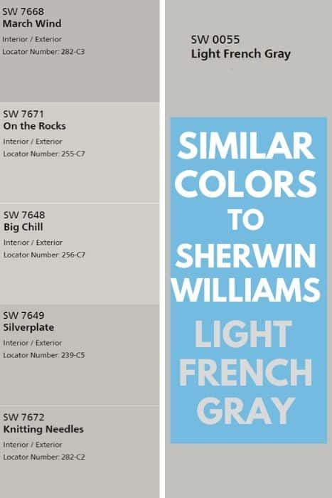 Colors Similar to light french Gray (1)