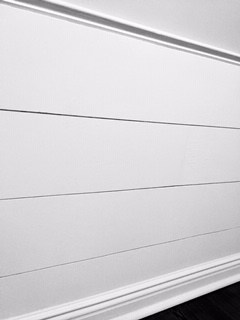 Painted shiplap