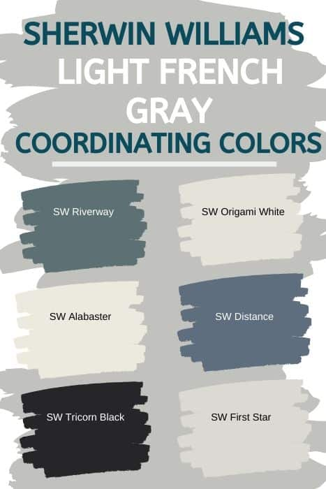 SW Light French Gray Coordinating Colors