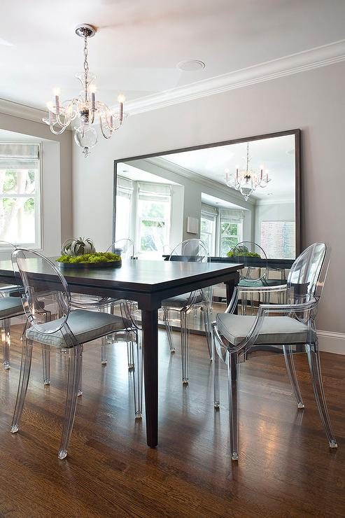 benjamin-moore-thunder-gray-ghost-dining-chairs-large-leaning-mirror