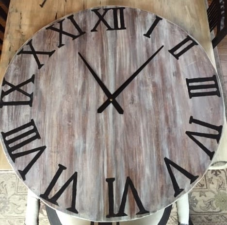 Diy Oversized Wall Clock Made From A Tabletop West Magnolia Charm