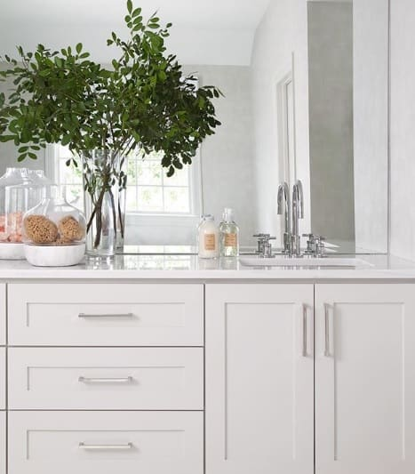 agreeable gray painted vanity