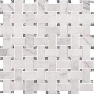 Calacatta Cressa Mosaic Marble Tile