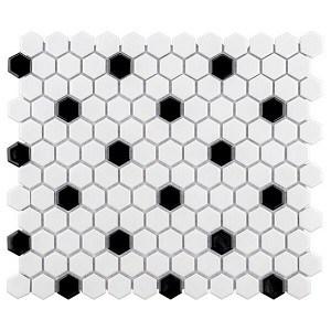 Retro Black and white tile