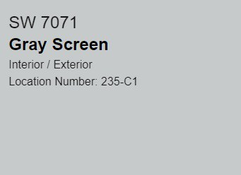 SW Gray Screen