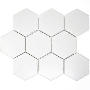 hexagon mosaic floor tile