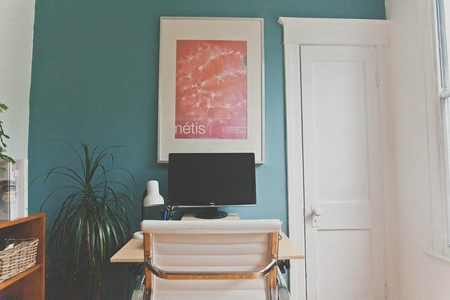 blue home office paint color