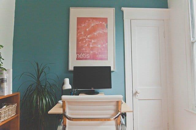 blue home office paint color
