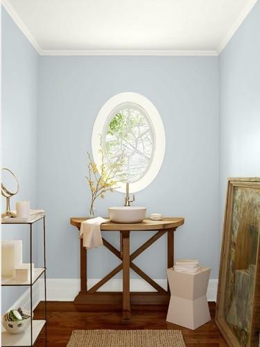 blue gray bathroom