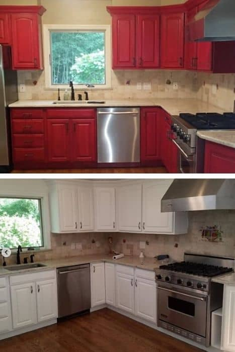 Red Kitchen BEFORE & AFTER (1)