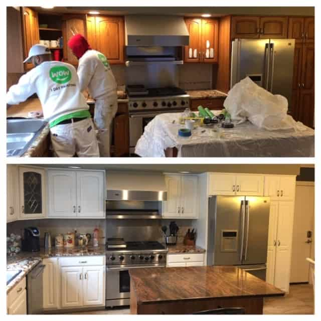kitchen cabinet painting before and after