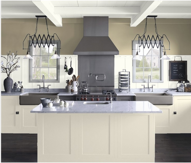 Edgecomb Gray Kitchen Cabinets