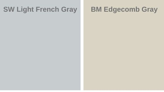 Light french gray vs. Edgecomb Gray