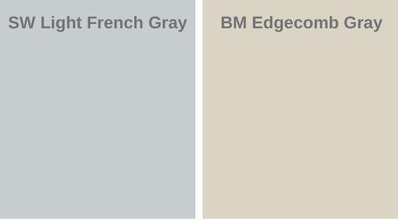 Light french gray vs. Edgecomb Gray