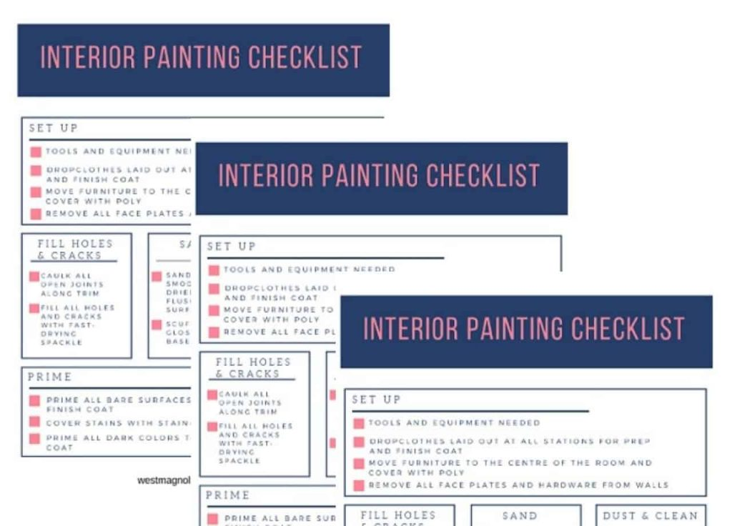 painting checklist