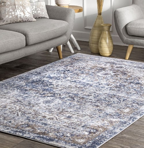 couch and area rug