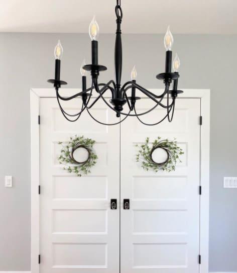 doors with wreaths