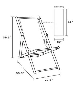 cabana chair diagram