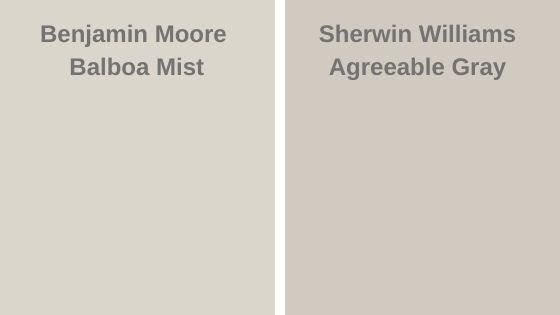 Balboa Mist vs Agreeable Gray
