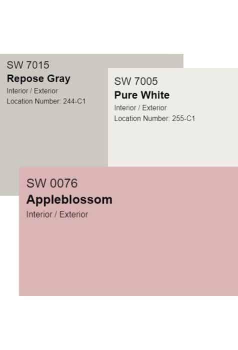 blush paint colors palette