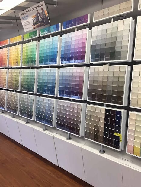sample paint chips